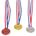 3 Medals Plastic / Fabric 11.6 x 3.8 cm