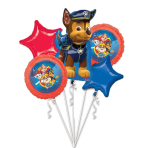 """Bouquet """"Paw Patrol 2018"""" 5 Foil Balloons, P75, packed"""