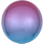 Ombré Orbz Purple & Blue Foil Balloon G20 packaged