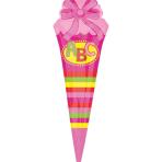 "SuperShape ""School Cornet - pink"" Foil Balloon, P35, packed, 25 x 76 cm"