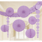 Decoration Kit Damask Lilac Paper 9 Pieces 360 cm / 90 cm / 20.3 - 30.4 cm