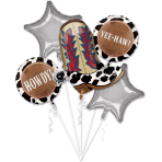 "Bouquet ""Yeehaw"" 5 Foil Balloons  , P75, packed,"