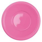 20 Bowls Plastic Bright Pink 355ml