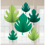 6 Fan Decorations Palm Leaf Paper 20.3 cm ( 30.4 cm / 40.6 c