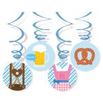 4 Swirl Decorations Bavaria Foil / Paper 80 cm