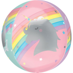 "Orbz XL Magical Rainbow Foil Balloon G20 Packaged 15""/38cm w x 16""/40cm h"