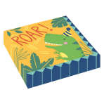 16 Lunch Napkins Dino-Mite 33 x 33 cm