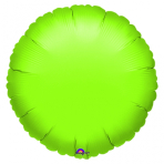 Standard Circle Metallic Lime Green Foil Balloon S15 Bulk