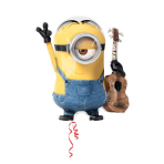 SuperShape Despicable Me Stuart Foil Balloon,, P38, bulk, 66x71 cm