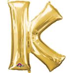 SuperShape Letter K Gold Foil Balloon L34 Packaged 66cm x 83cm