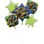 "Bouquet ""Teenage Mutant Ninja Turtles  "" 5 Foil Balloons, P75, packed"