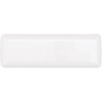 10 Mini Rectangular Trays Plastic White 6.3 x 19 cm