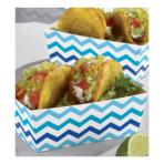 24 Snack Trays Paper Minis blue 11,4 x 6,6 x 4,1cm