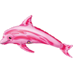 Mini Shape Pink Dolphin Foil Balloon A30 Bulk