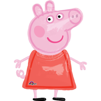 "AirWalker ""Peppa Pig"" Foil Balloon P93 packed 91 x 121cm"