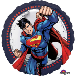 "Standard ""Superman"" Foil Balloon Round, S60, packed, 43cm"