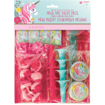 Favour Pack Magical Unicorn Plastic / Paper 48 Pieces