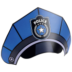8 Party Cone Hats Police