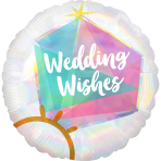 Standard Iridescent Wedding Ring Foil Balloon S55 Packaged