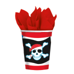 8 Cups Pirate Party Paper 266 ml