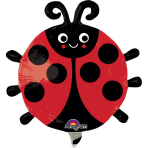 Mini Shape Happy Ladybug Foil Balloon A30 Bulk