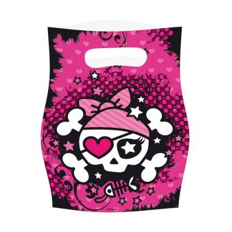 6 Loot Bags Pirate Girl
