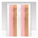 Door Curtain Rose Gold Blush Plastic 243 x 91.4 cm