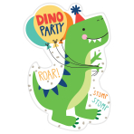 8 Invitations & Enveloppes Dino-Mite
