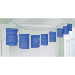 Lantern Garland Bright Royal Blue Paper 365 cm