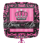 """Standard """"Crowned Bride to Be"""" Foil Balloon, S40, packaged"""