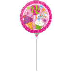 9'' SweetShop Birthday Foil Balloon Round A15 Air Filled 23 cm