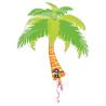 SuperShape Summer Scene Palm Tree Foil Balloon P30 Packaged 74 x 83 cm