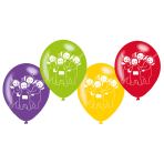 6 Latex balloons Teletubbies 22,8cm/9""
