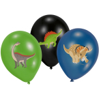 6 Latex Balloons Happy Dinosaur 27.5 cm / 11""