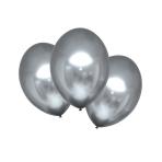 "6 Latex Balloons Satin Luxe Platinum 27.5cm/11"""