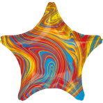 Standard Marblez Colorful Star Foil Balloon S18 Packaged