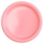 10 Plates Plastic Pretty Pink 17.7 cm