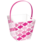 24 Treat Cups with handle Paper Minis pink 6,3 x 6,3 x 6,3 cm