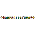 Letter Banner Smiley Emoticons Paper 193 x 15 cm