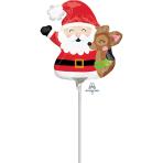 """Mini Shape """"Santa & Reindeer"""" Foil Balloon, A30, airfilled"""