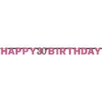 Letter Banner 30 Sparkling Celebration Pink Foil 213 x 16.2 cm