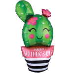 SuperShape HMD Cactus Foil Balloon P30 Packaged 45cm x 88cm