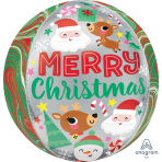 Orbz Adorable Christmas Buddies Foil Balloon G20 Packaged 38cm x 40cm