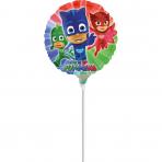 """9'' """"PJ Masks"""" Foil Balloon Round, A20, bulk, 23cm"""