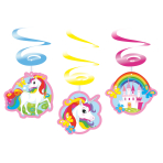 6 Deco Swirls Unicorn