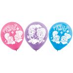 """6 Latex Balloons Shimmer & Shine 22,8 cm/9"""""""