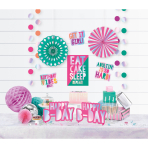 Decoration Kit Young And Fab Paper / Foil 12 Parts 213 cm / 22.8 - 36.8 cm