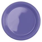10 Plates Plastic New Purple 17.7cm