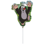 "Mini Shape ""Little Mole"" Foil Balloon, A30, bulk, 30 x 35 cm"