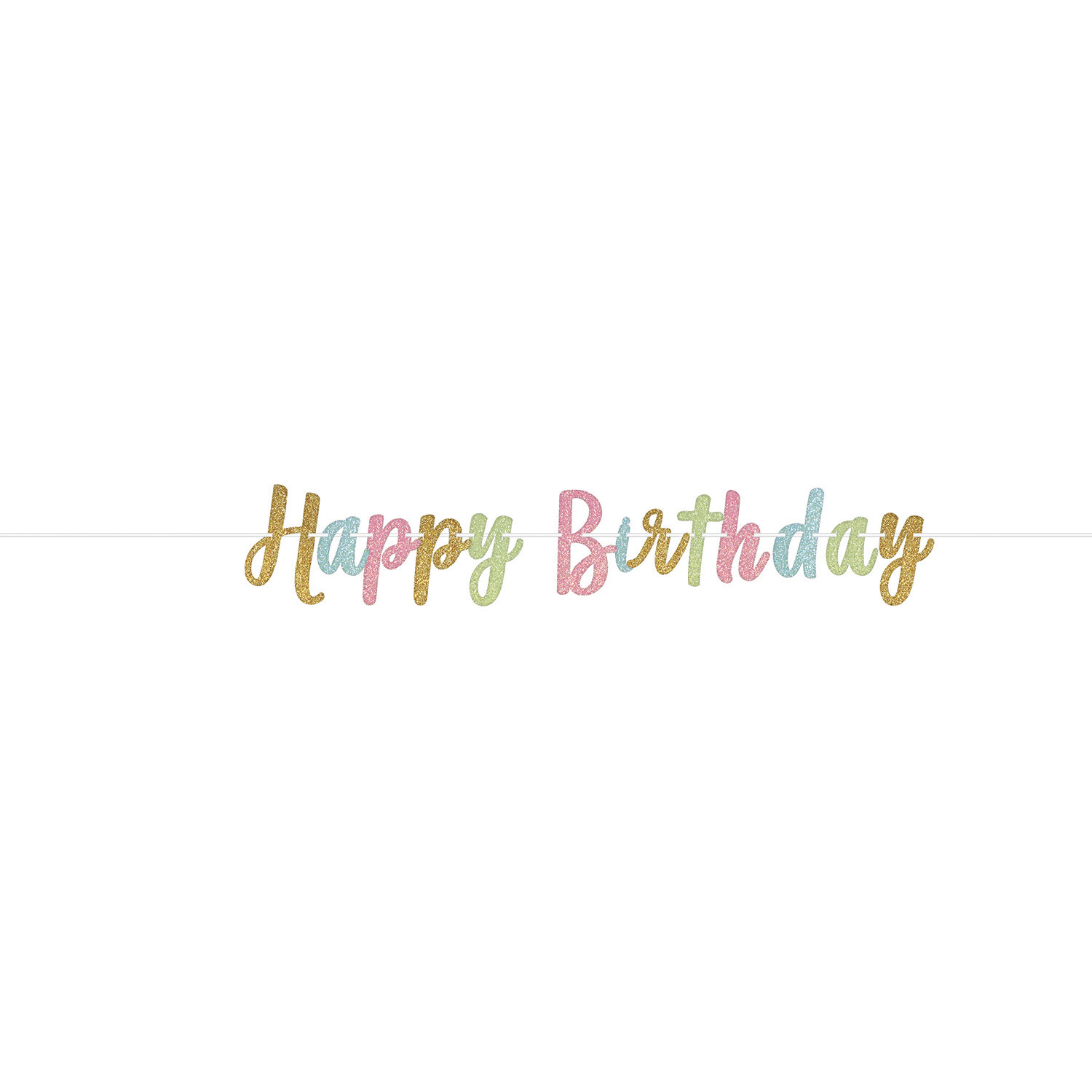 amscan The Party Continuous 40th Birthday Party Foil Letter Banner Decoration Multi 7 1//4 Feet Foil